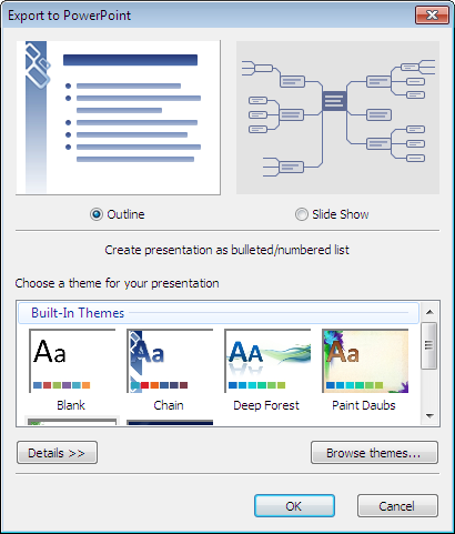 export outline to powerpoint